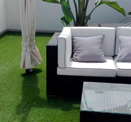 Césped artificial para terrazas y áticos